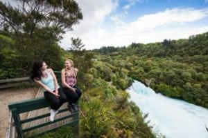 Enjoying the view, Huka Falls in Taupo