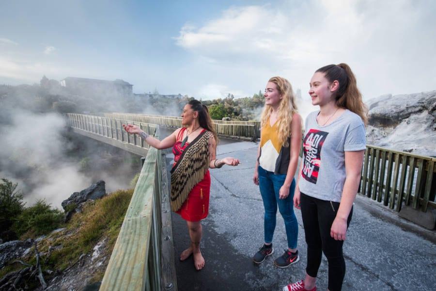 Join a guided tour to Whakarewarewa - The Living Maori Village