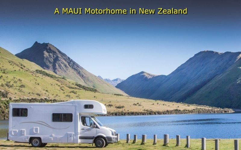 Maui Motorhome by a lake in New Zealand