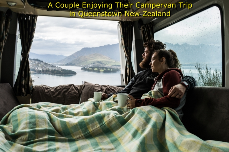 Campervan Hire Queenstown - A Couple inside their campervan