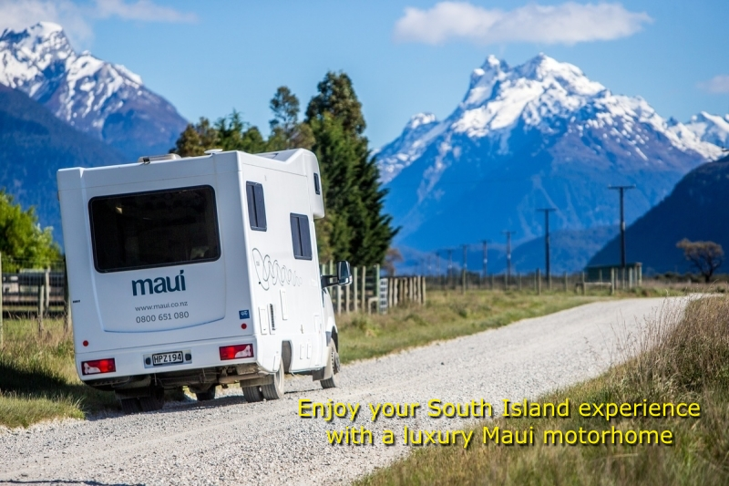 Maui campervan hire - South Island NZ